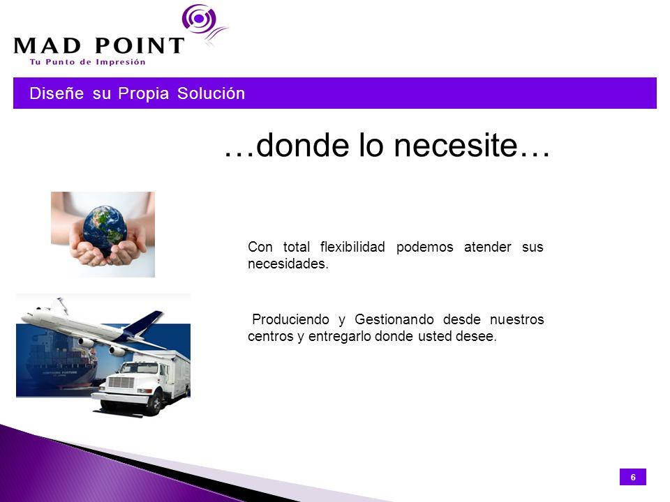 Nosotros tenemos los servicios, usted elige su solución Elija los servicios que le interesen.