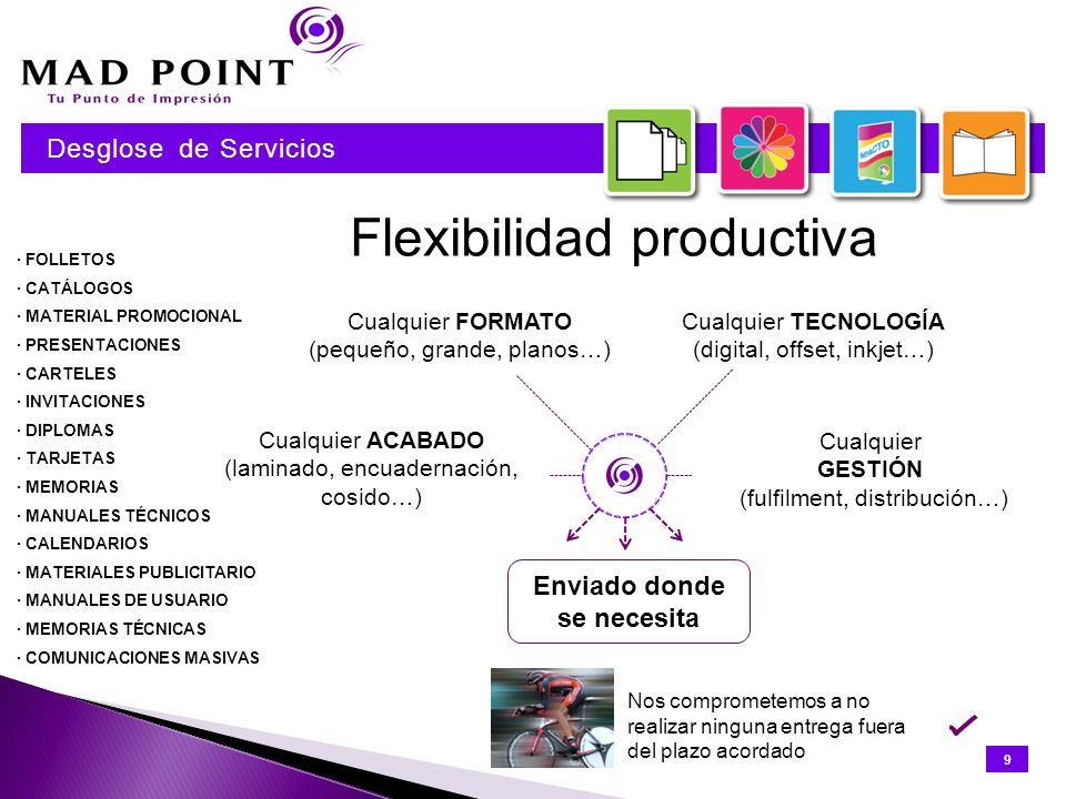 Capacidad productiva Capacidad de producción en B/N Capacidad de producción en COLOR Capacidad de preimpresión, maquetación y composición 10 Desglose de Servicios