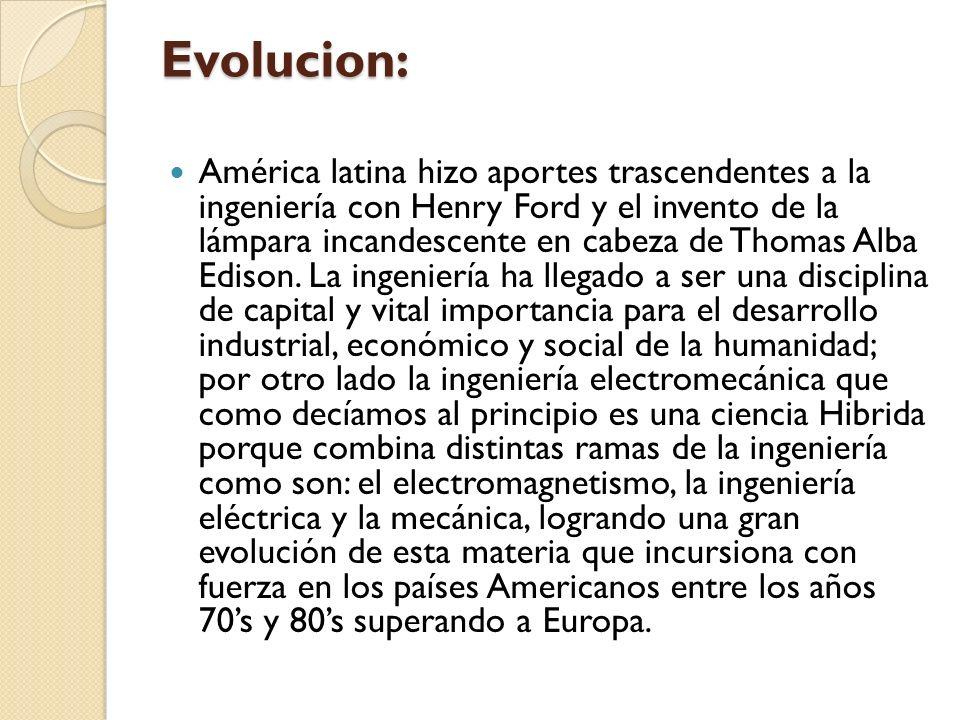 Evolucion: América latina hizo aportes trascendentes a la ingeniería con Henry Ford y el invento de la lámpara incandescente en cabeza de Thomas Alba