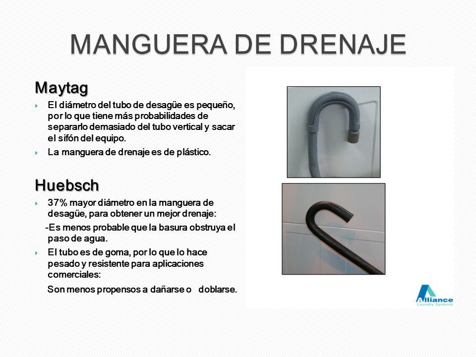 Maytag El diámetro del tubo de desagüe es pequeño, por lo que tiene más probabilidades de separarlo demasiado del tubo vertical y sacar el sifón del e