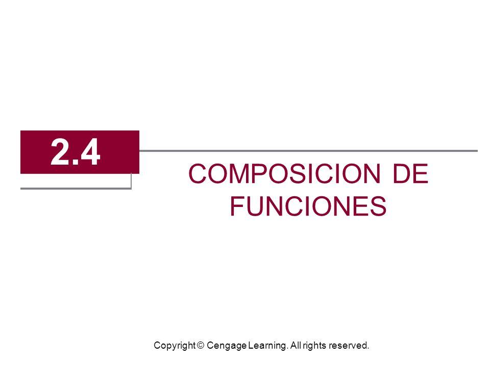 3 Composicion de Funciones Composicion crea una nueva funcion tomando el output de una funcion 1 como el input de otra funcion 2.