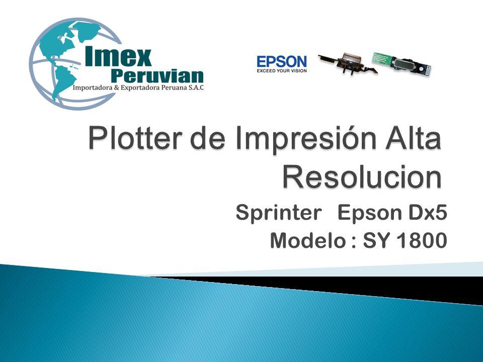 Sprinter Epson Dx5 Modelo : SY 1800