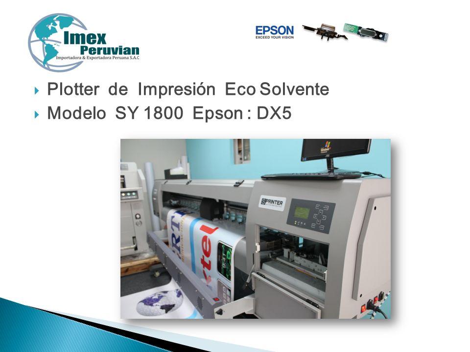 Plotter de Impresión Eco Solvente Modelo SY 1800 Epson : DX5