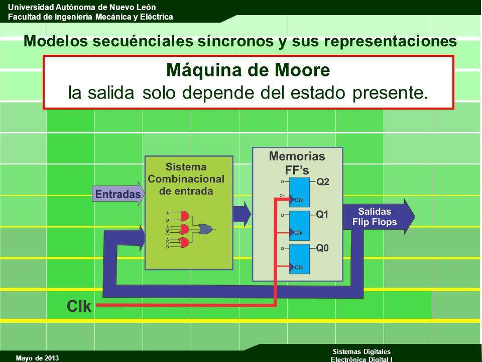 Mayo de 2013 Sistemas Digitales Electrónica Digital I Universidad Autónoma de Nuevo León Facultad de Ingeniería Mecánica y Eléctrica Modelos secuéncia