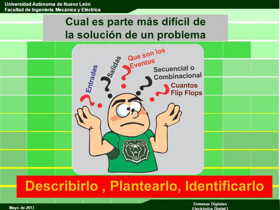 Mayo de 2013 Sistemas Digitales Electrónica Digital I Universidad Autónoma de Nuevo León Facultad de Ingeniería Mecánica y Eléctrica Cual es parte más
