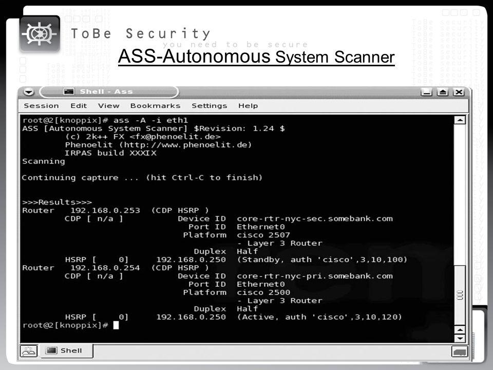 ASS-Autonomous System Scanner