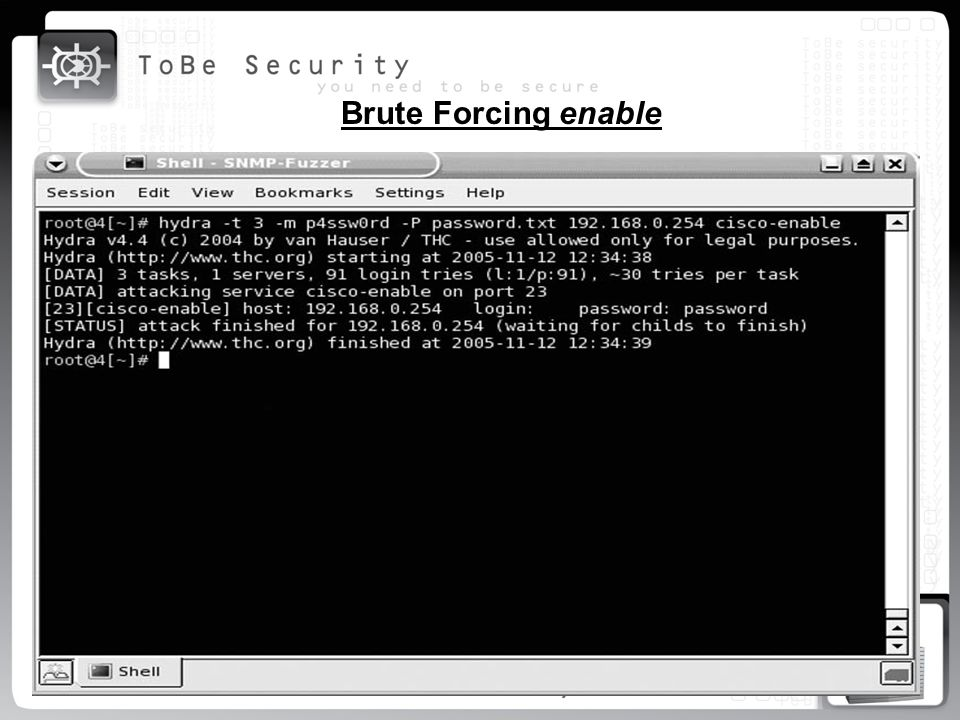 Brute Forcing enable