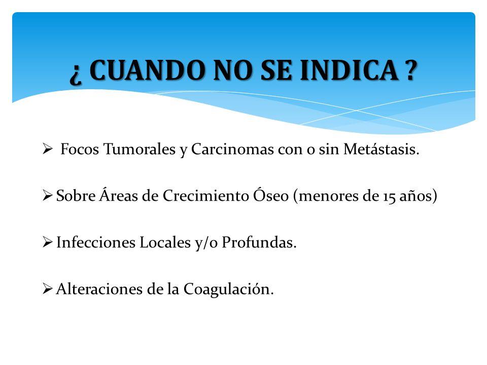 Focos Tumorales y Carcinomas con o sin Metástasis.