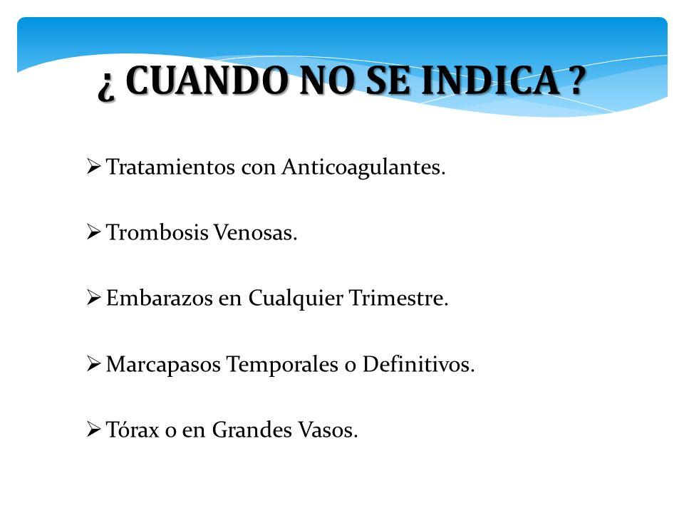 Tratamientos con Anticoagulantes.Trombosis Venosas.