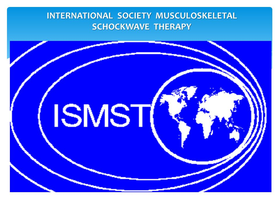 INTERNATIONAL SOCIETY MUSCULOSKELETAL SCHOCKWAVE THERAPY