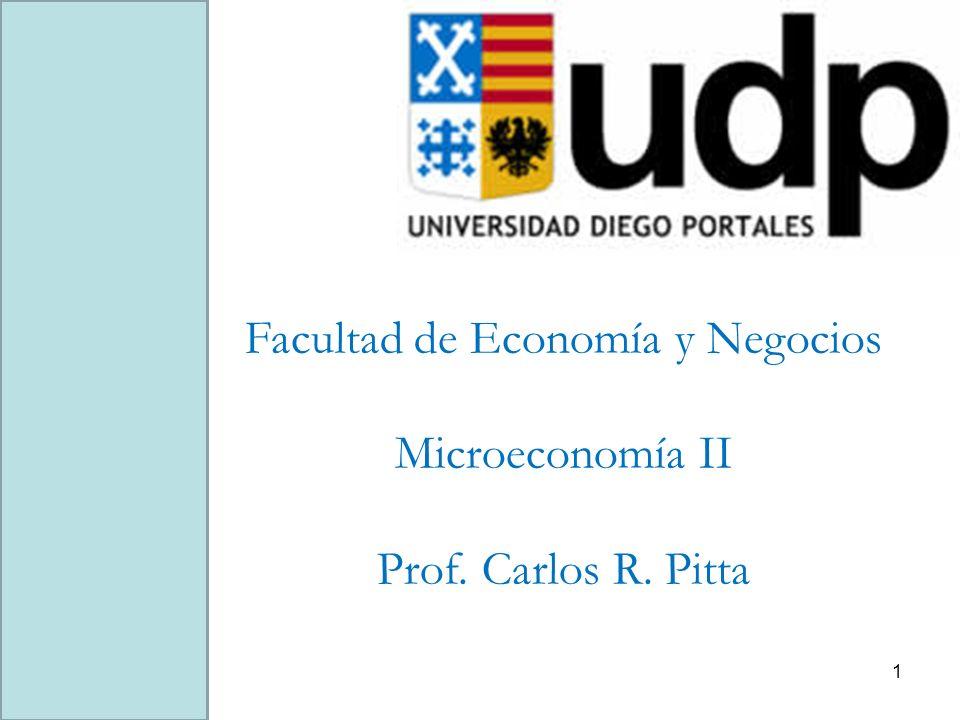 Facultad de Economía y Negocios Microeconomía II Prof. Carlos R. Pitta 1