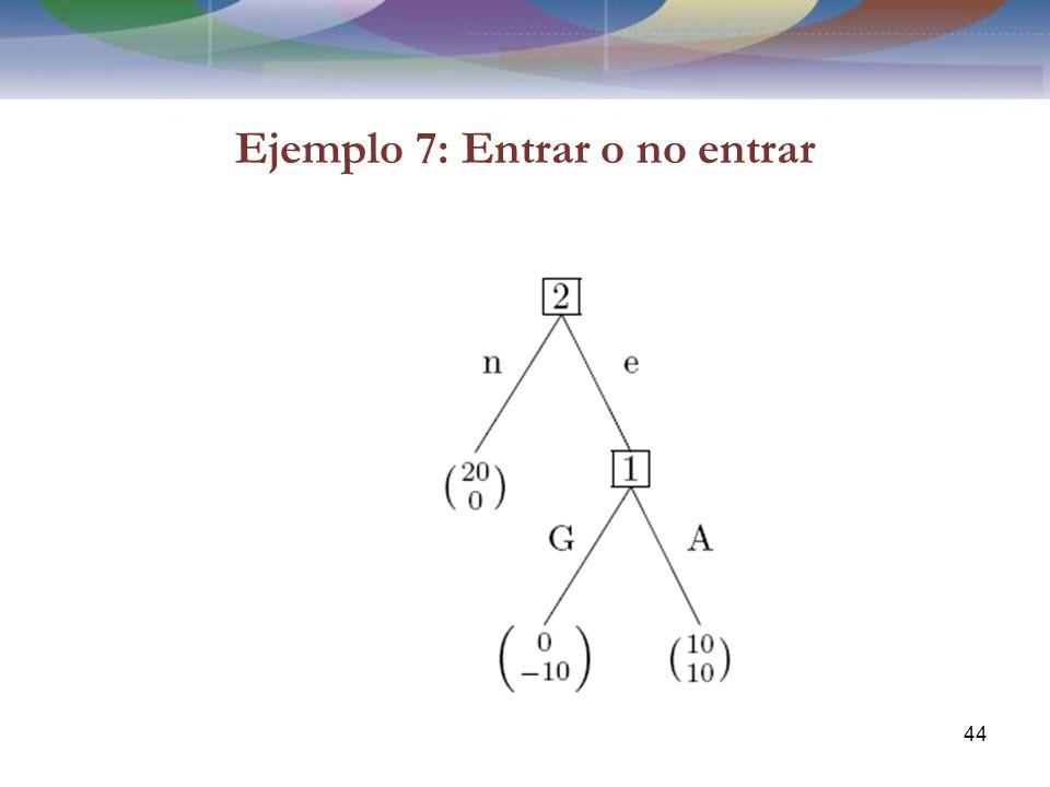Ejemplo 7: Entrar o no entrar 44