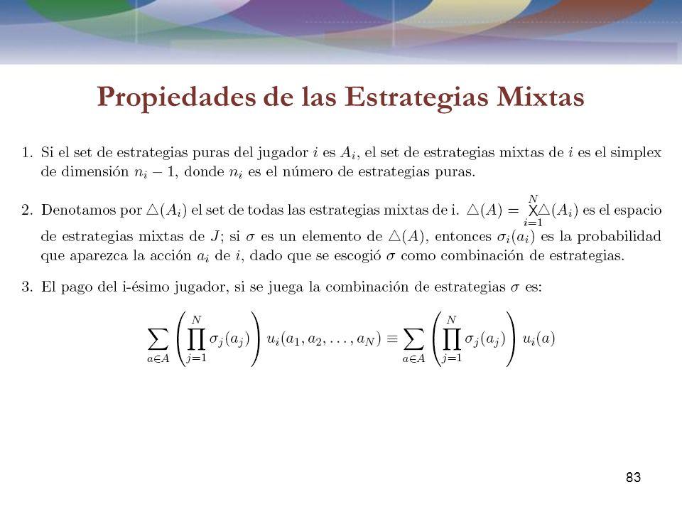 Propiedades de las Estrategias Mixtas 83