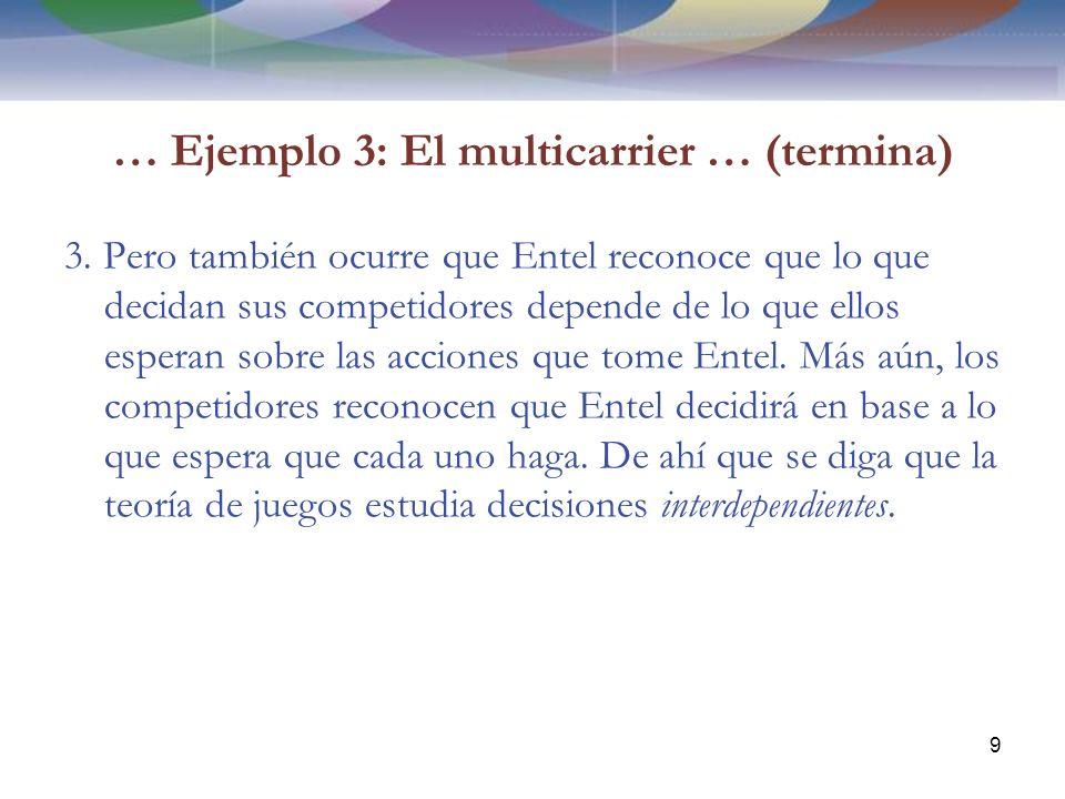 … Ejemplo 3: El multicarrier … (termina) 3.