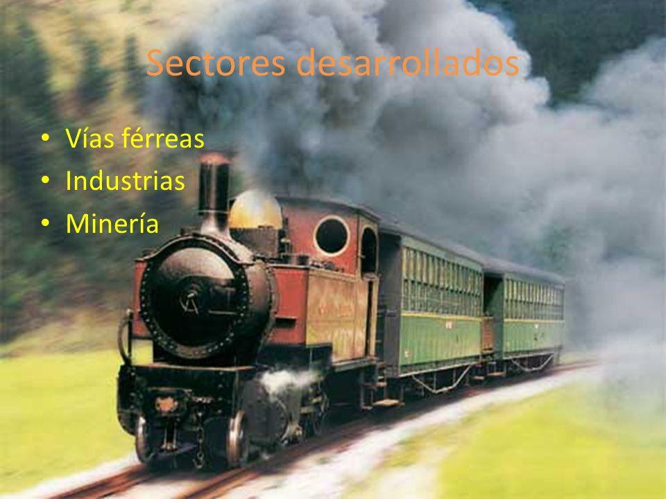 Sectores desarrollados Vías férreas Industrias Minería