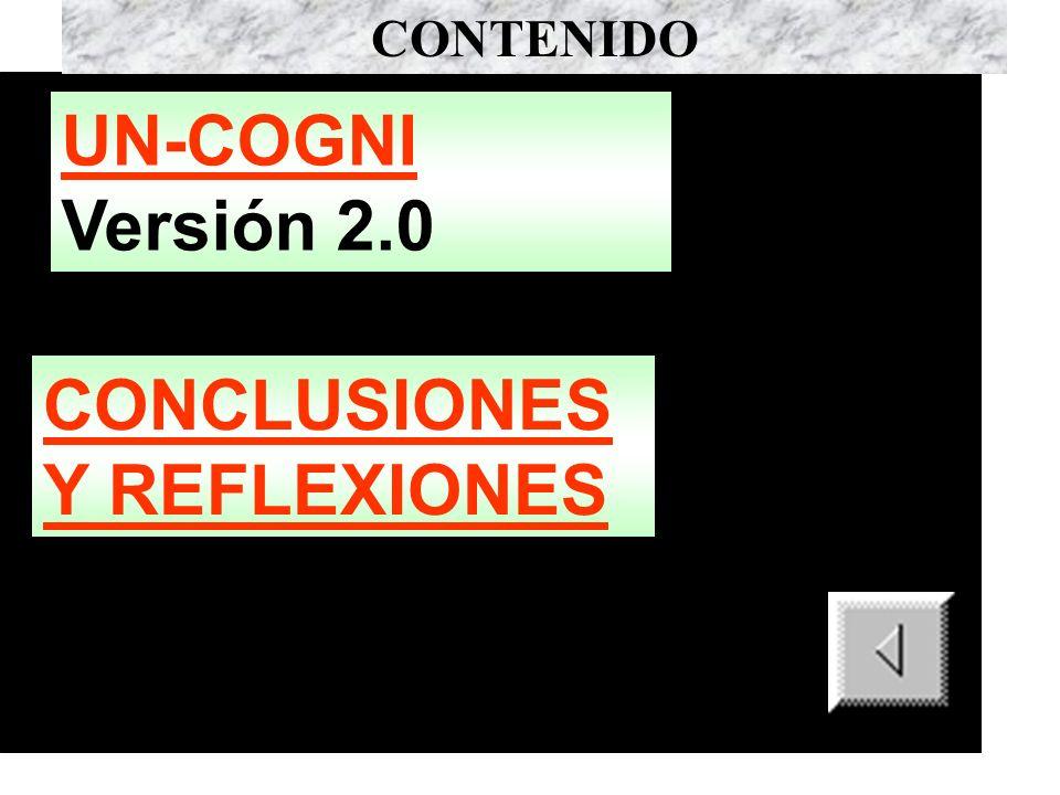 CONCLUSIONES Y REFLEXIONES CONTENIDO UN-COGNI UN-COGNI Versión 2.0