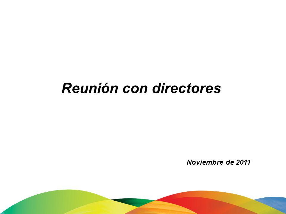 Reunión con directores Noviembre de 2011