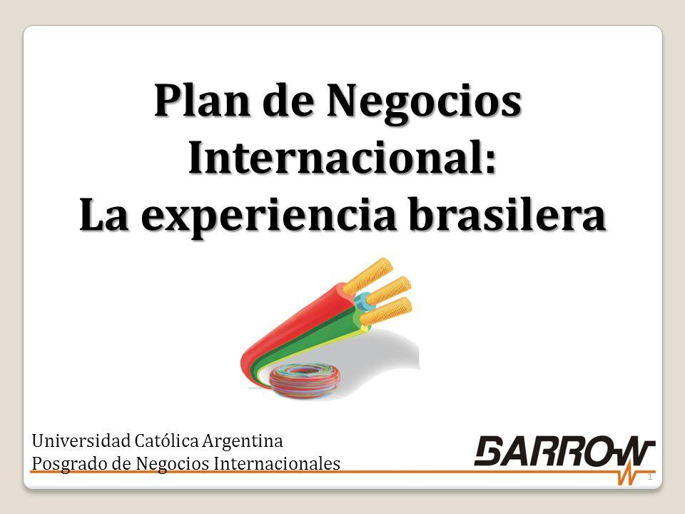 Plan de Negocios Internacional: La experiencia brasilera Universidad Católica Argentina Posgrado de Negocios Internacionales 1