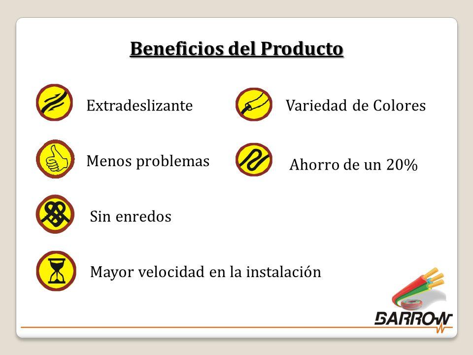 Beneficios del Producto ExtradeslizanteMenos problemasSin enredosMayor velocidad en la instalación Variedad de Colores Ahorro de un 20% 7