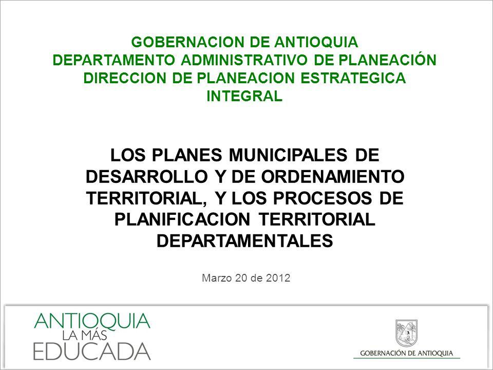 PLAN DE DESARROLLO MUNICIPAL - PDM Carta de navegación y principal instrumento de planeación y gestión del desarrollo integral de los municipios.
