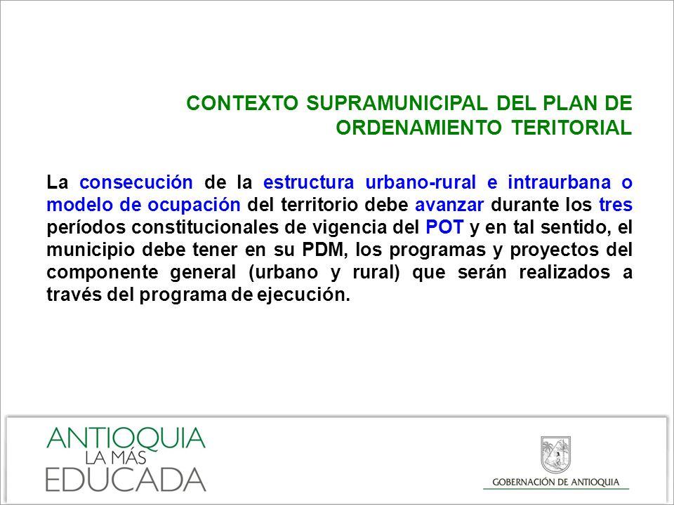 COMENTARIOS FINALES Articular y coordinar el Plan de Desarrollo Municipal con el Plan de Ordenamiento Territorial por medio del Programa de Ejecución.
