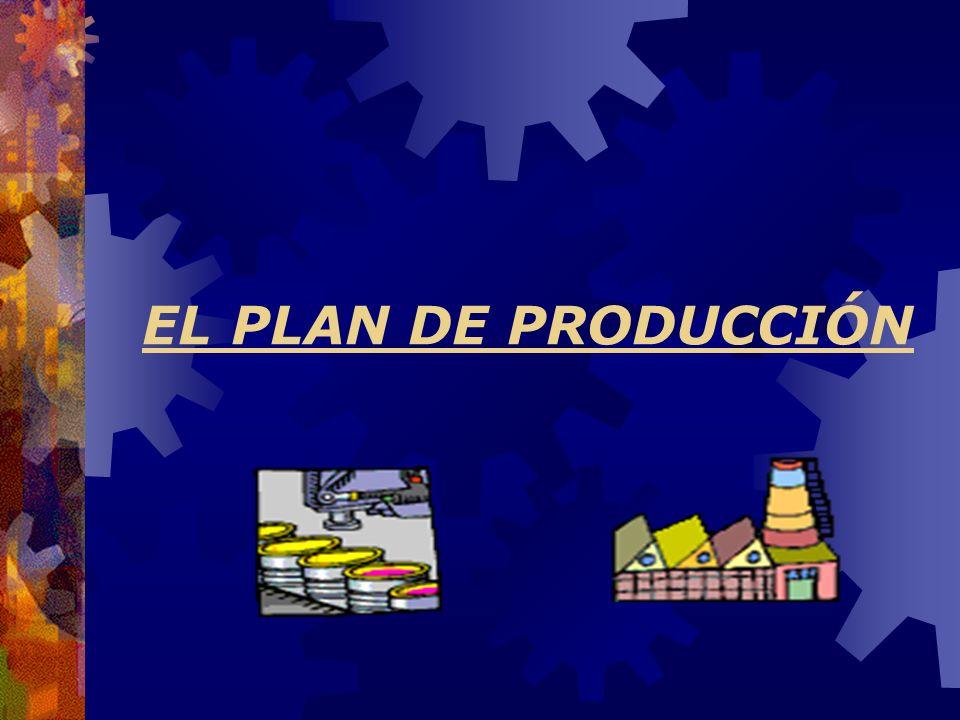 EL PLAN DE PRODUCCIÓN