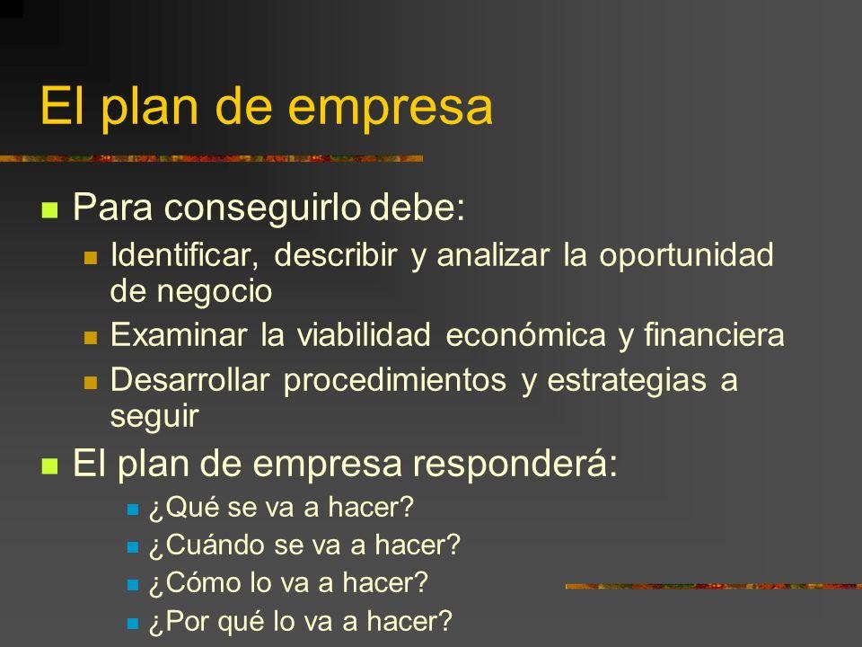 El plan de empresa Debe ser persuasivo, vender la idea de negocio de forma convincente para atraer a posibles inversores, intermediarios financieros y entidades oficiales.