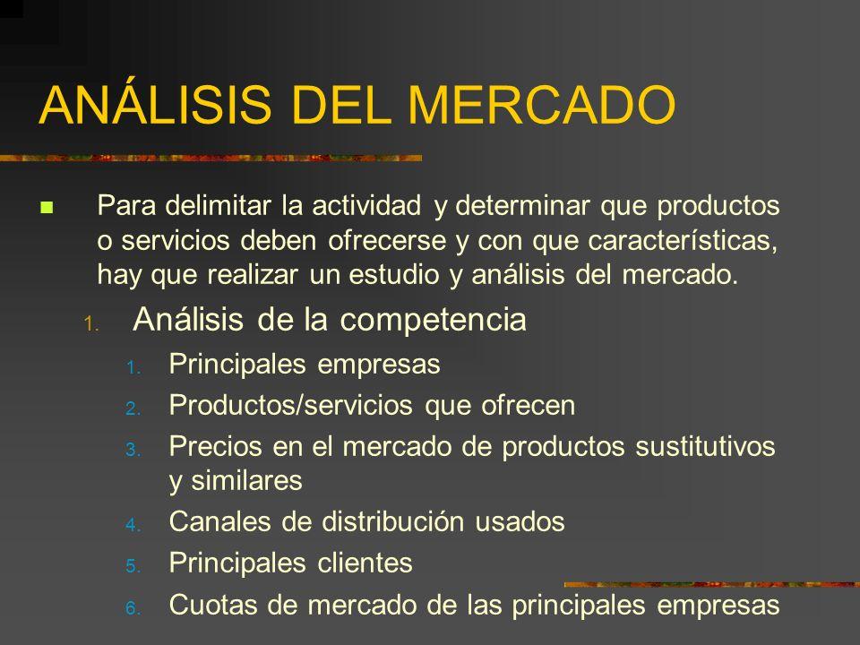 ANÁLISIS DEL MERCADO 2.Información directa sobre clientes potenciales 1.