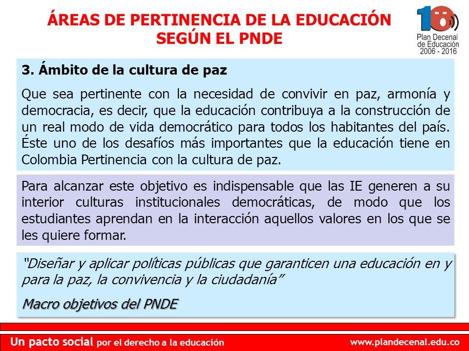 www.plandecenal.edu.co Un pacto social por el derecho a la educación 3.