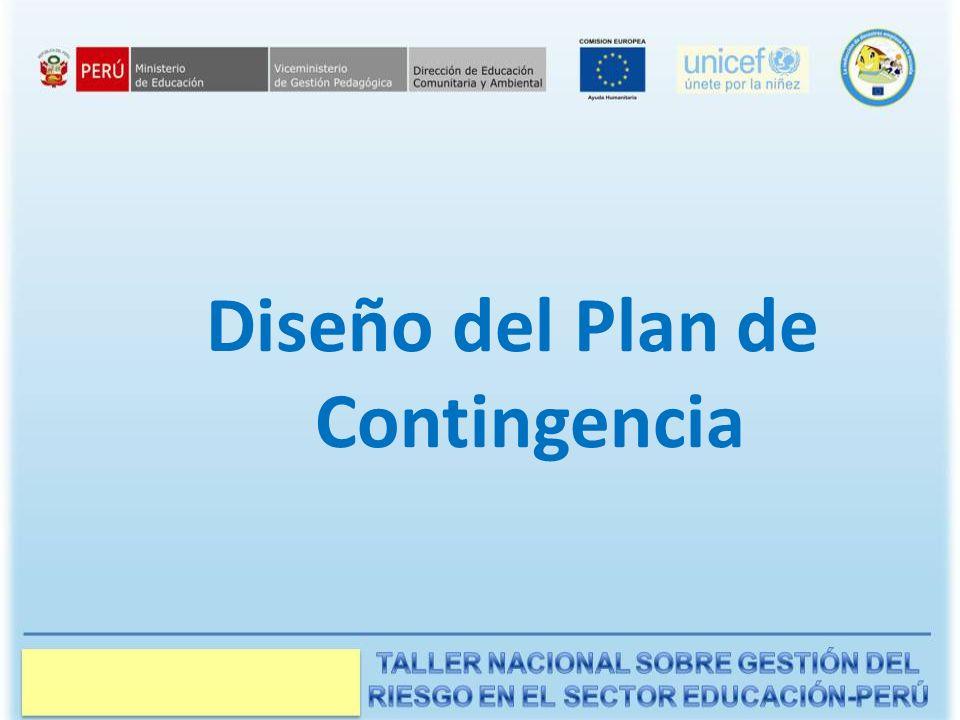 Diseño del Plan de Contingencia