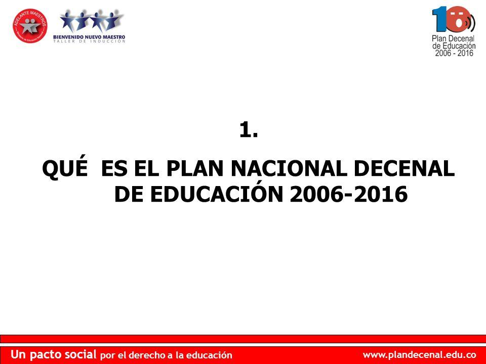 www.plandecenal.edu.co Un pacto social por el derecho a la educación 6.