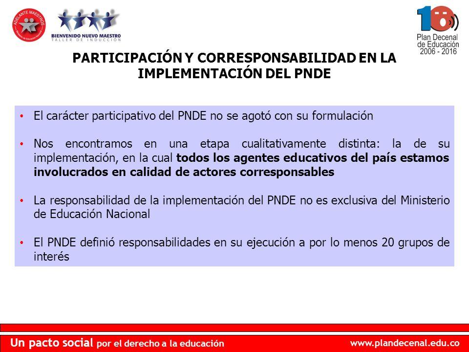 www.plandecenal.edu.co Un pacto social por el derecho a la educación MACRO OBJETIVOS 4.