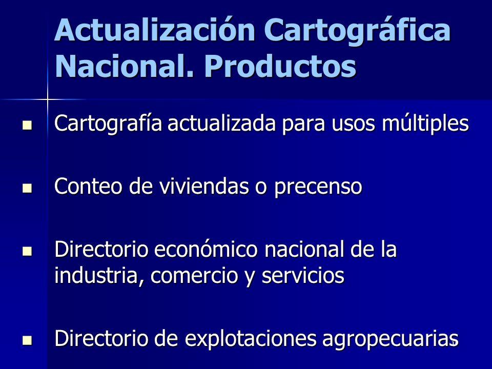 10 Actualización Cartográfica Nacional.