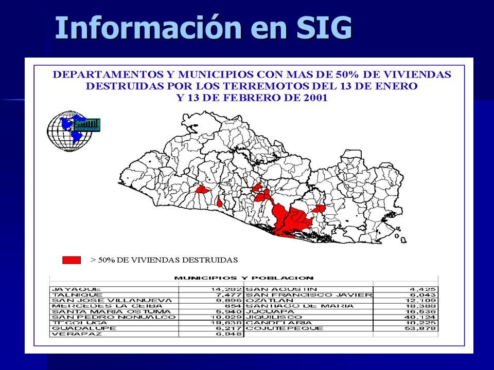 13 Información en SIG