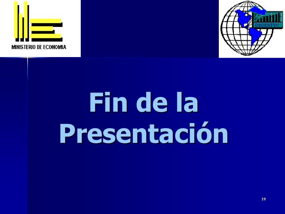 19 Fin de la Presentación