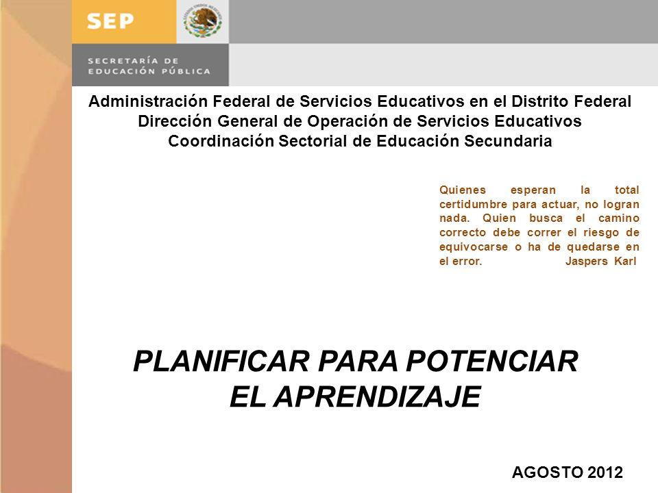Administración Federal de Servicios Educativos en el Distrito Federal Dirección General de Operación de Servicios Educativos Coordinación Sectorial de