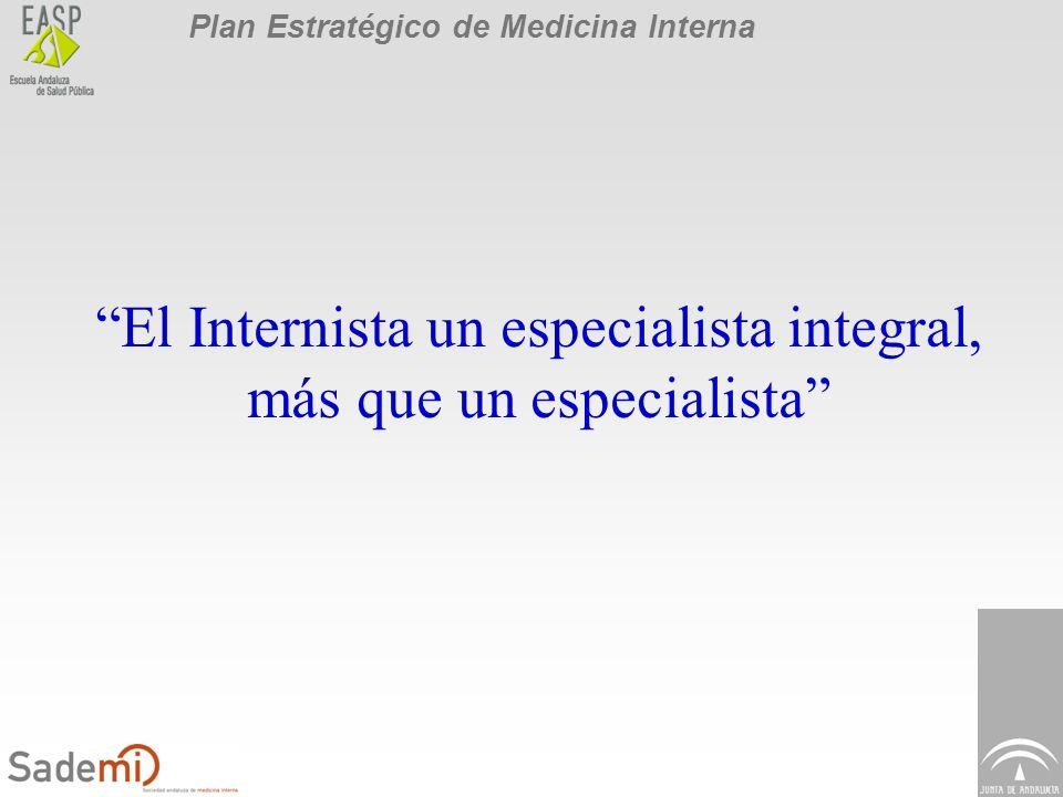 Plan Estratégico de Medicina Interna El Internista un especialista integral, más que un especialista
