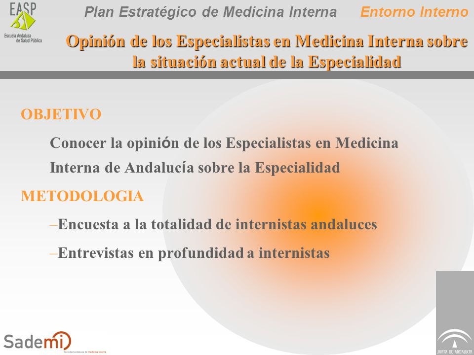 Plan Estratégico de Medicina Interna Opinión de los Especialistas en Medicina Interna sobre la situación actual de la Especialidad OBJETIVO Conocer la