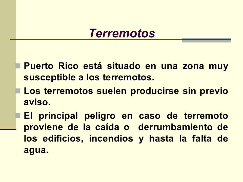 Terremotos Puerto Rico está situado en una zona muy susceptible a los terremotos.