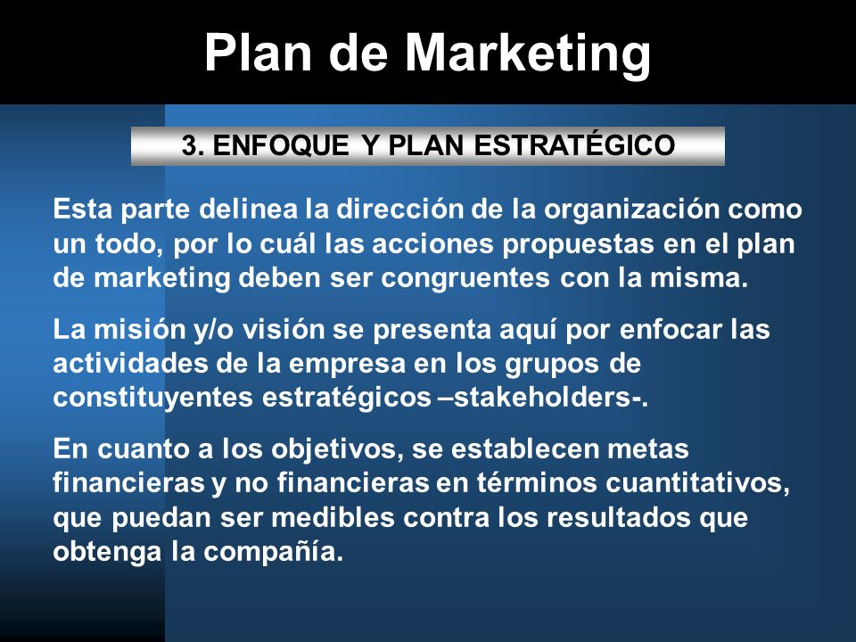 Plan de Marketing 3.
