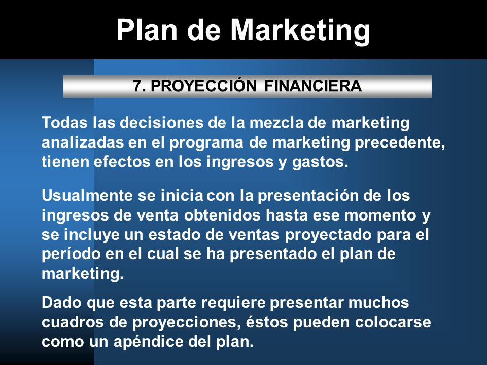 Plan de Marketing 7.