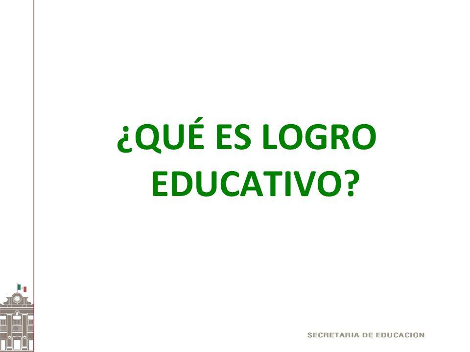 ¿QUÉ ES LOGRO EDUCATIVO?