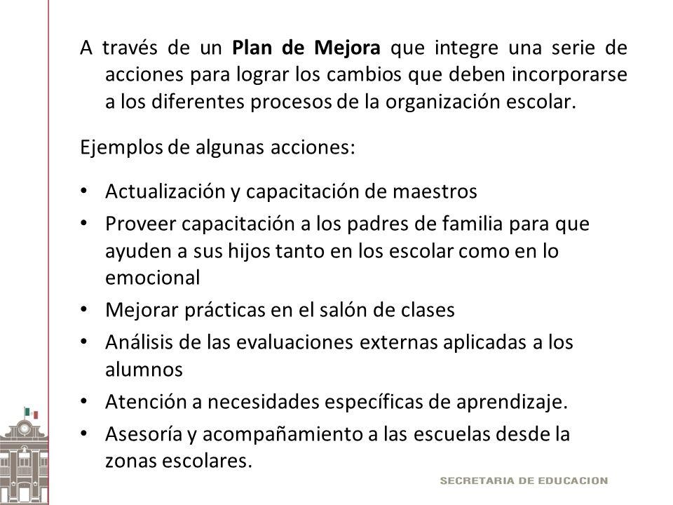 A través de un Plan de Mejora que integre una serie de acciones para lograr los cambios que deben incorporarse a los diferentes procesos de la organiz