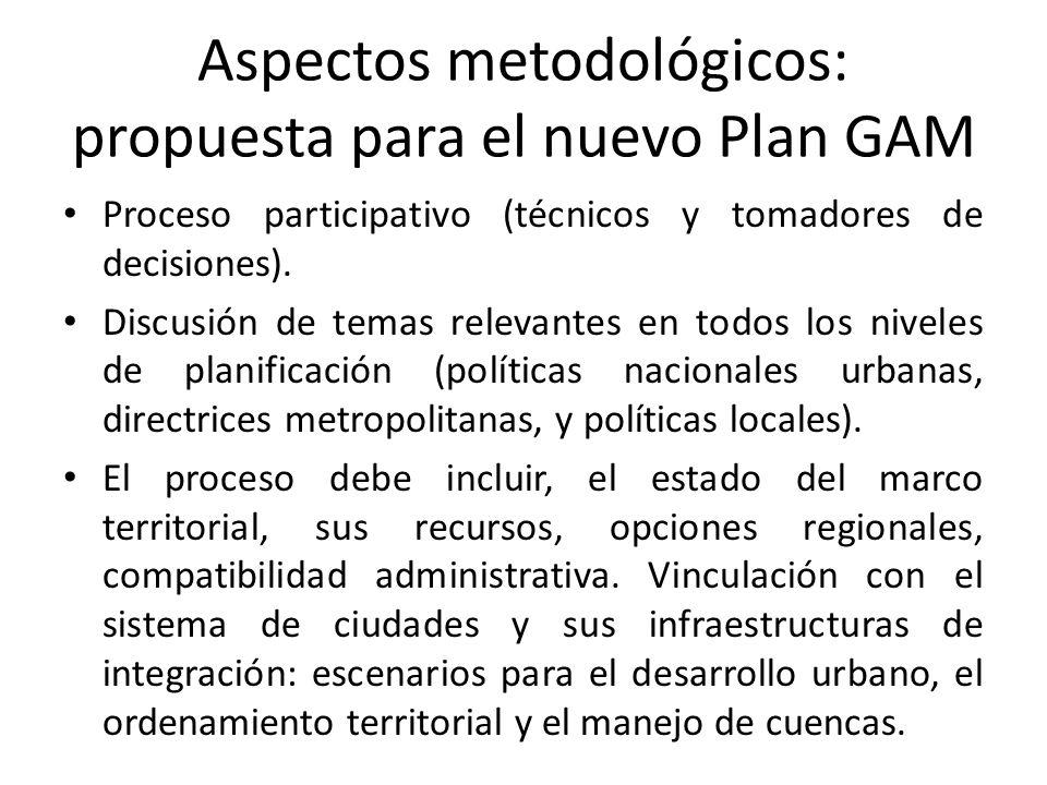 Aspectos metodológicos: propuesta para el nuevo Plan GAM Proceso participativo (técnicos y tomadores de decisiones).
