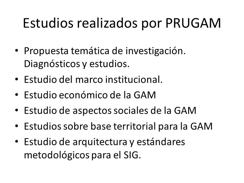 Estudios realizados por PRUGAM Propuesta temática de investigación.