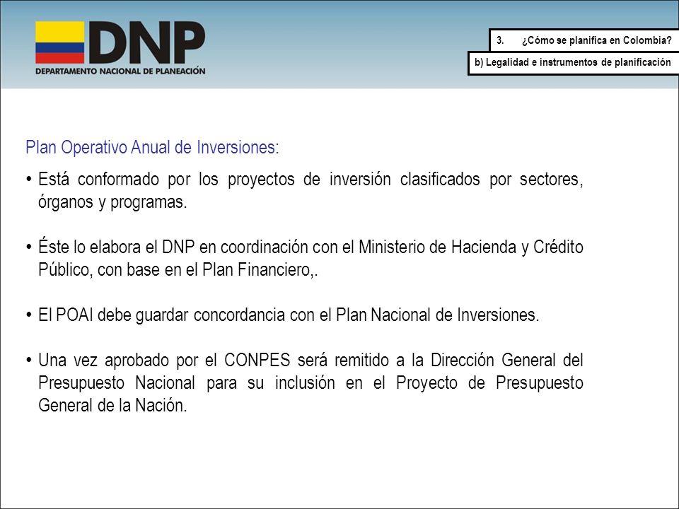 Está conformado por los proyectos de inversión clasificados por sectores, órganos y programas. Éste lo elabora el DNP en coordinación con el Ministeri