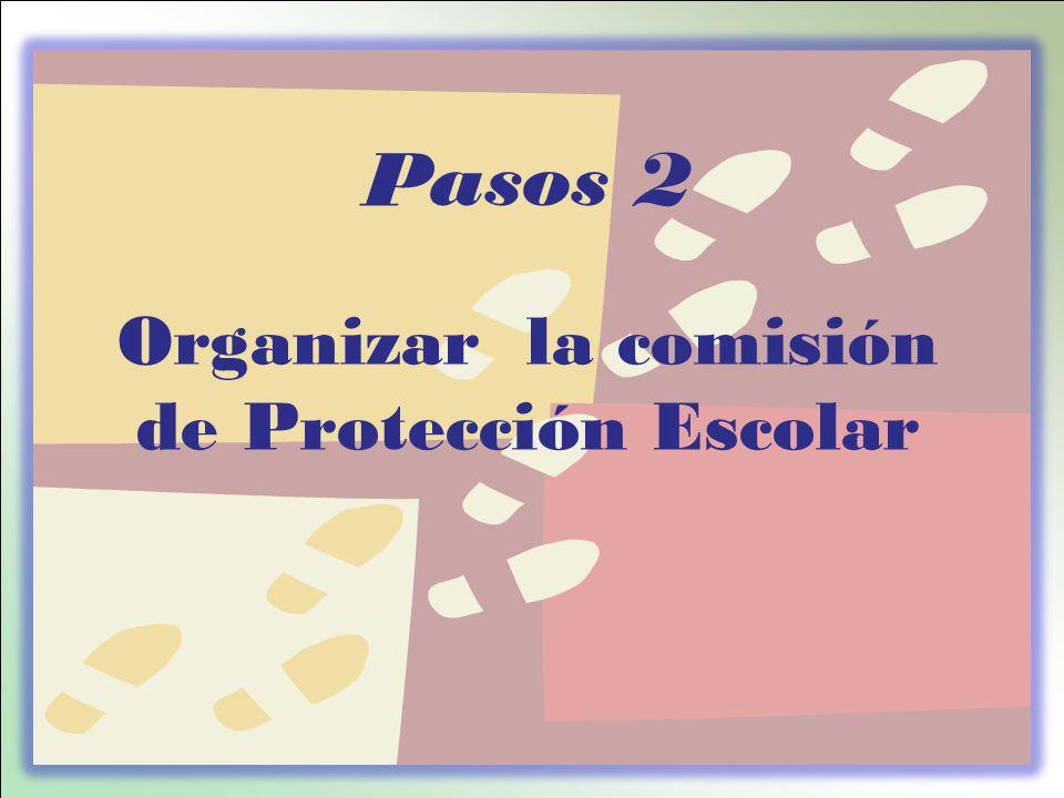 Pasos 2 Organizar la comisión de Protección Escolar