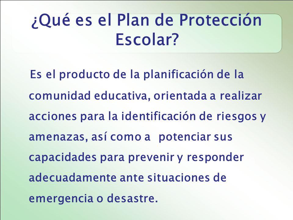 ¿ Qué es el Plan de Protección Escolar.
