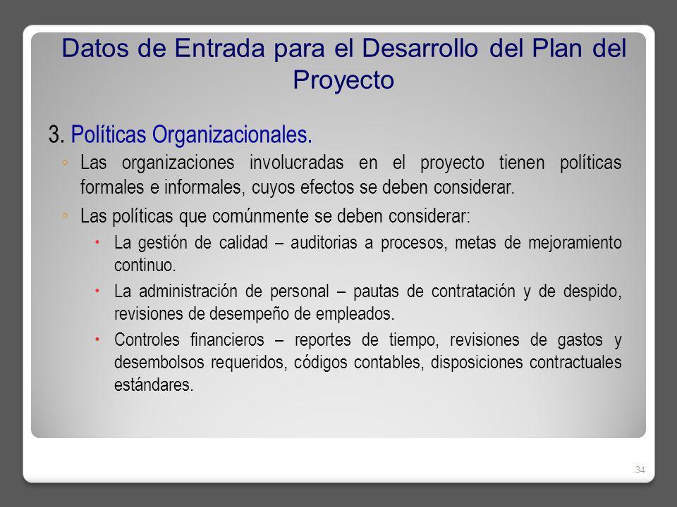 3.Políticas Organizacionales.