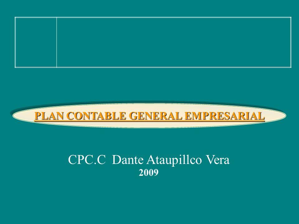 CPC.C Dante Ataupillco Vera 2009 PLAN CONTABLE GENERAL EMPRESARIAL
